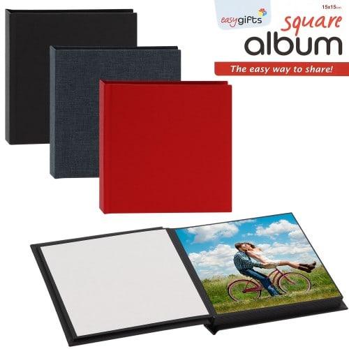 Mini album photo MITSUBISHI pré-encollé EasyAlbum - 20 tirages 15x15cm - Coloris aléatoire si achat d'1 à 2 albums - 1 coloris d