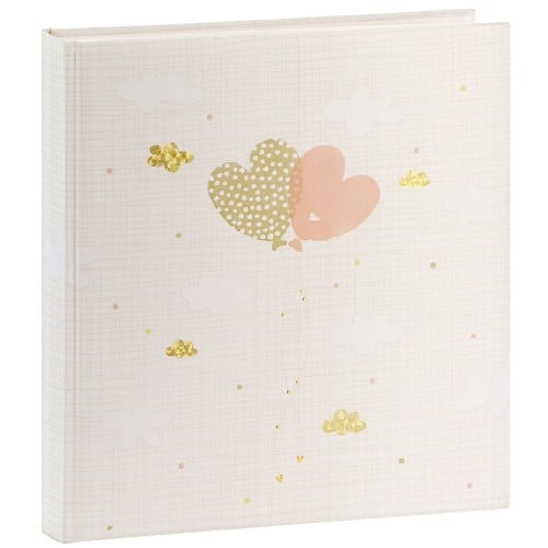 traditionnel Ballooning Hearts - 60 pages blanches + feuillets cristal - 240 photos - Couverture 30x31cm