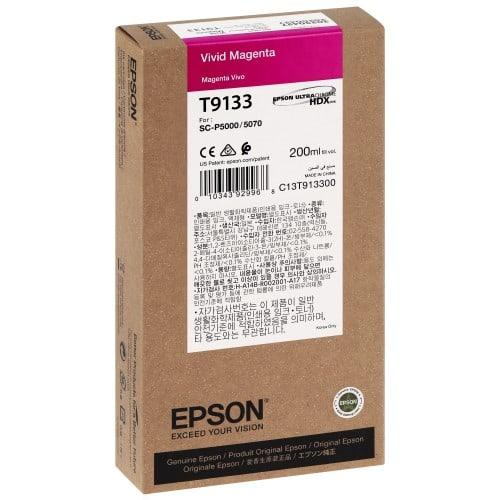 EPSON - Cartouche d'encre traceur SC-P5000 Magenta Vivid - 200ml - T9133