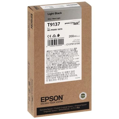 EPSON - Cartouche d'encre traceur SC-P5000 -  Gris - 200ml - T9137