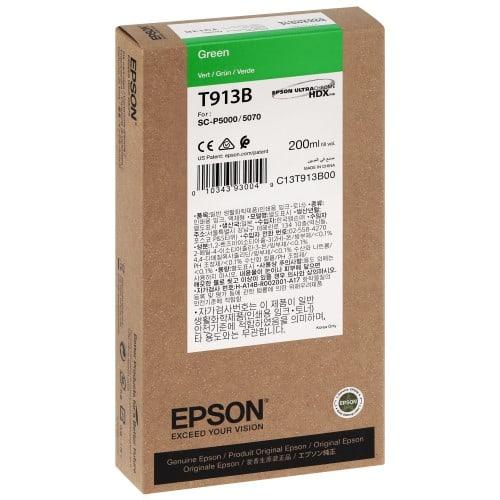 EPSON - Cartouche d'encre traceur SC-P5000 - Vert - 200ml - T913B
