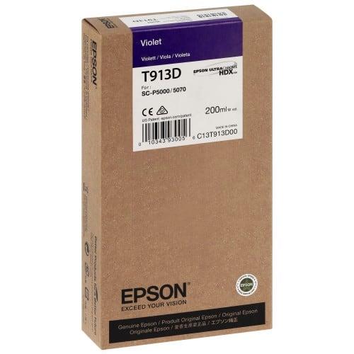 Cartouche d'encre traceur EPSON SC-P5000 - Violet - 200ml - T913D