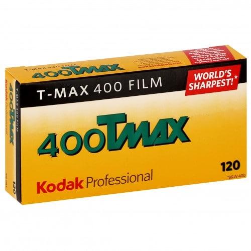 Pellicule photo pro KODAK Noir et Blanc T-MAX 400 Format 120 Pack de 5