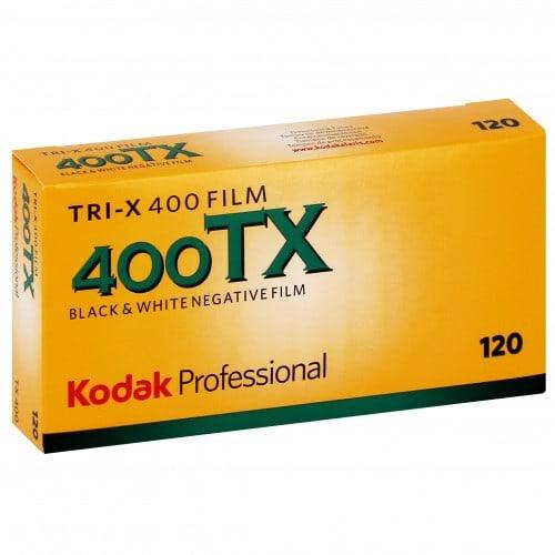 Pellicule photo pro KODAK Noir et Blanc TRI-X 400 Format 120 Pack de 5