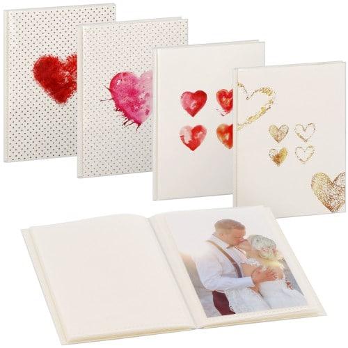 pochettes sans mémo LAZISE - 24 pages blanches - 24 photos - Couverture Coloris aléatoire 12,5x16,5cm - à l'unité