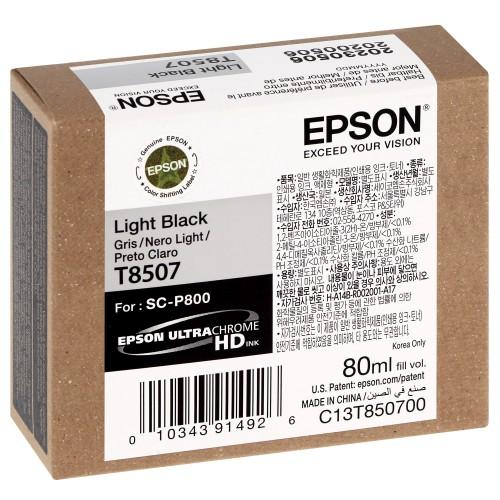 EPSON - Cartouche d'encre traceur SC-P800 - Gris - 80ml - T8507