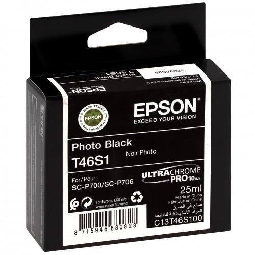 EPSON - Cartouche d'encre traceur UltraChrome Pro 10 SC-P700 - Noir photo - 25ml - T46S1