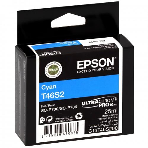 EPSON - Cartouche d'encre traceur UltraChrome Pro 10 SC-P700 - Cyan - 25ml - T46S2