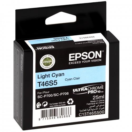 EPSON - Cartouche d'encre traceur UltraChrome Pro 10 SC-P700 - Light cyan - 25ml - T46S5