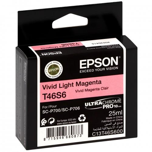 EPSON - Cartouche d'encre traceur UltraChrome Pro 10 SC-P700 - Vivid light magenta - 25ml - T46S6