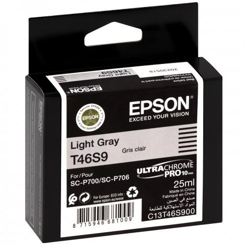 EPSON - Cartouche d'encre traceur UltraChrome Pro 10 SC-P700 - Light gris - 25ml - T46S9