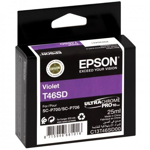 EPSON - Cartouche d'encre traceur UltraChrome Pro 10 SC-P700 - Violet - 25ml - T46SD