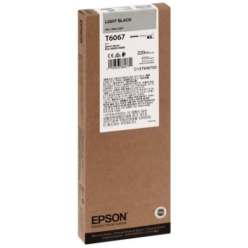 Cartouche d'encre traceur EPSON T6067 Pour imprimante 4800/4880 Gris - 220ml