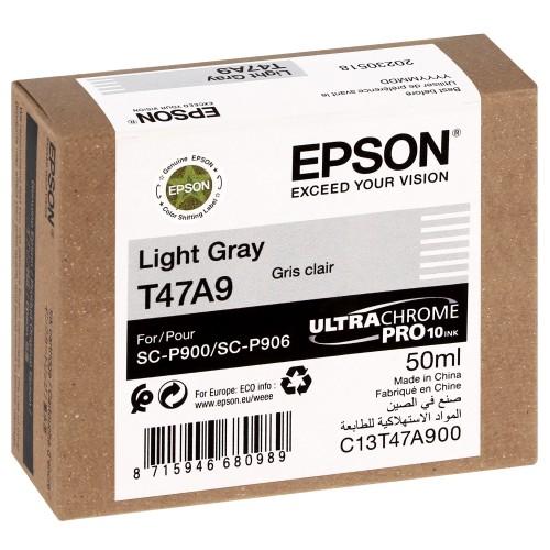 EPSON - Cartouche d'encre traceur UltraChrome Pro 10 SC-P900 - Light gris - 50ml - T47A9