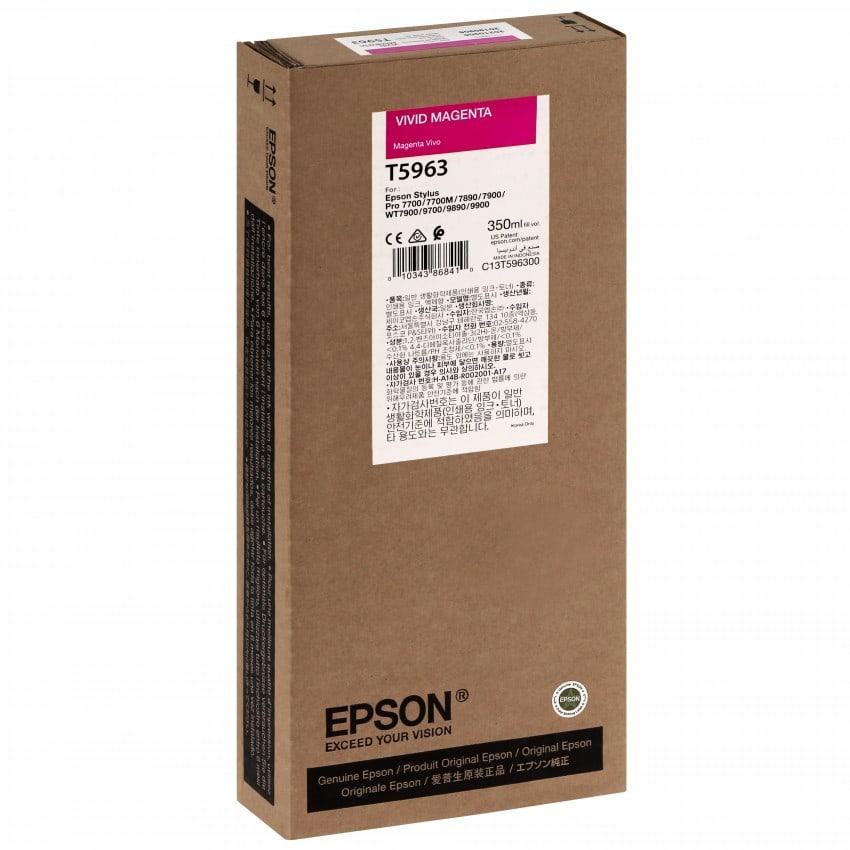 Cartouche d'encre traceur EPSON T5963 Pour imprimante 7700/9700/7890/9890/7900/9900 Vivid Magenta - 350ml