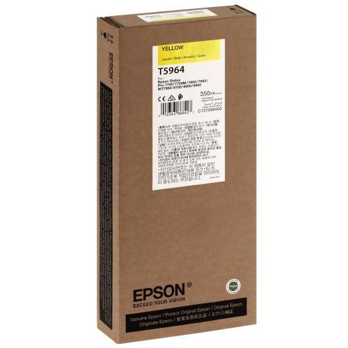Cartouche d'encre traceur EPSON T5964 Pour imprimante 7700/9700/7890/9890/7900/9900 Jaune - 350ml