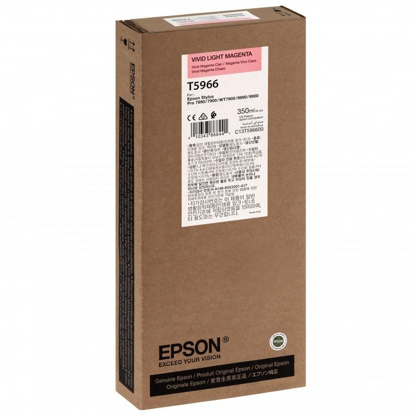 Cartouche d'encre traceur EPSON T5966 Pour imprimante 7890/9890/7900/9900 Vivid Magenta clair - 350ml