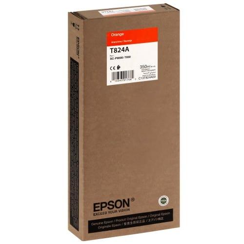 EPSON - Cartouche d'encre traceur T824A Pour imprimante SC-P7000/7000V/9000/9000V Orange - 350ml