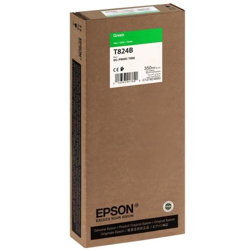 EPSON - Cartouche d'encre traceur T824B Pour imprimante SC-P7000/7000V/9000/9000V Vert - 350ml