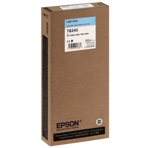 EPSON - Cartouche d'encre traceur T8245 Pour imprimante SC-P6000/7000/7000V/8000/9000/9000V Light cyan - 350ml