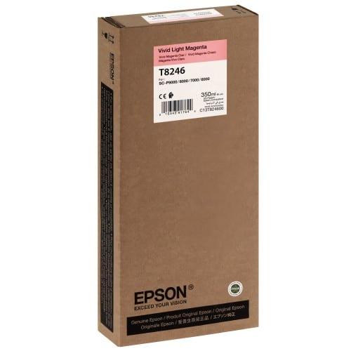EPSON - Cartouche d'encre traceur T8246 Pour imprimante SC-P6000/7000/7000V/8000/9000/9000V Vivid light magenta - 350ml