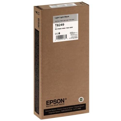 EPSON - Cartouche d'encre traceur T8249 Pour imprimante SC-P6000/7000/8000/9000 Light light noir - 350ml