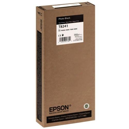 EPSON - Cartouche d'encre traceur T8241 Pour imprimante SC-P6000/7000/7000V/8000/9000/9000V Noir Photo - 350ml