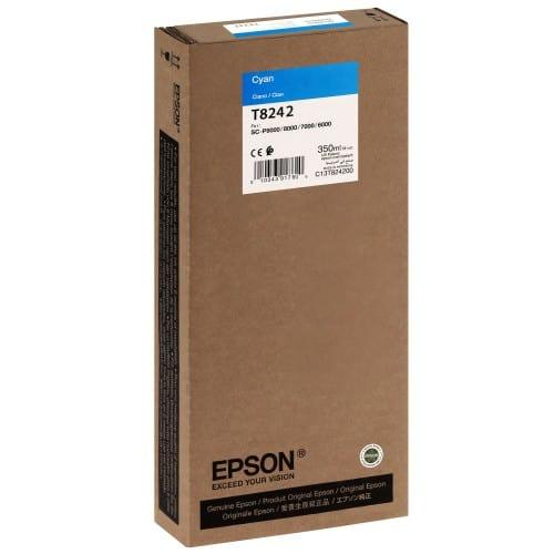 EPSON - Cartouche d'encre traceur T8242 Pour imprimante SC-P6000/7000/7000V/8000/9000/9000V Cyan - 350ml