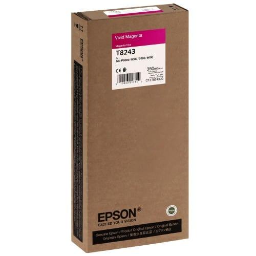 EPSON - Cartouche d'encre traceur T8243 Pour imprimante SC-P6000/7000/7000V8000/9000/9000V Vivid magenta - 350ml