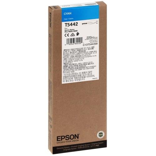Cartouche d'encre traceur EPSON T5442 Pour imprimante 4000/4400/7600/9600 Cyan - 220ml