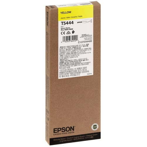 Cartouche d'encre traceur EPSON T5444 Pour imprimante 4000/4400/7600/9600 Jaune - 220ml
