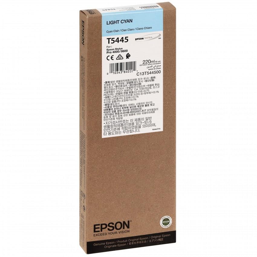 Cartouche d'encre traceur EPSON T5445 Pour imprimante 4000/7600/9600 Cyan clair - 220ml