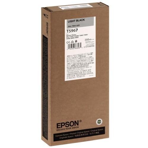 EPSON - Cartouche d'encre traceur T5967 Pour imprimante 7890/9890/7900/9900 Gris - 350ml