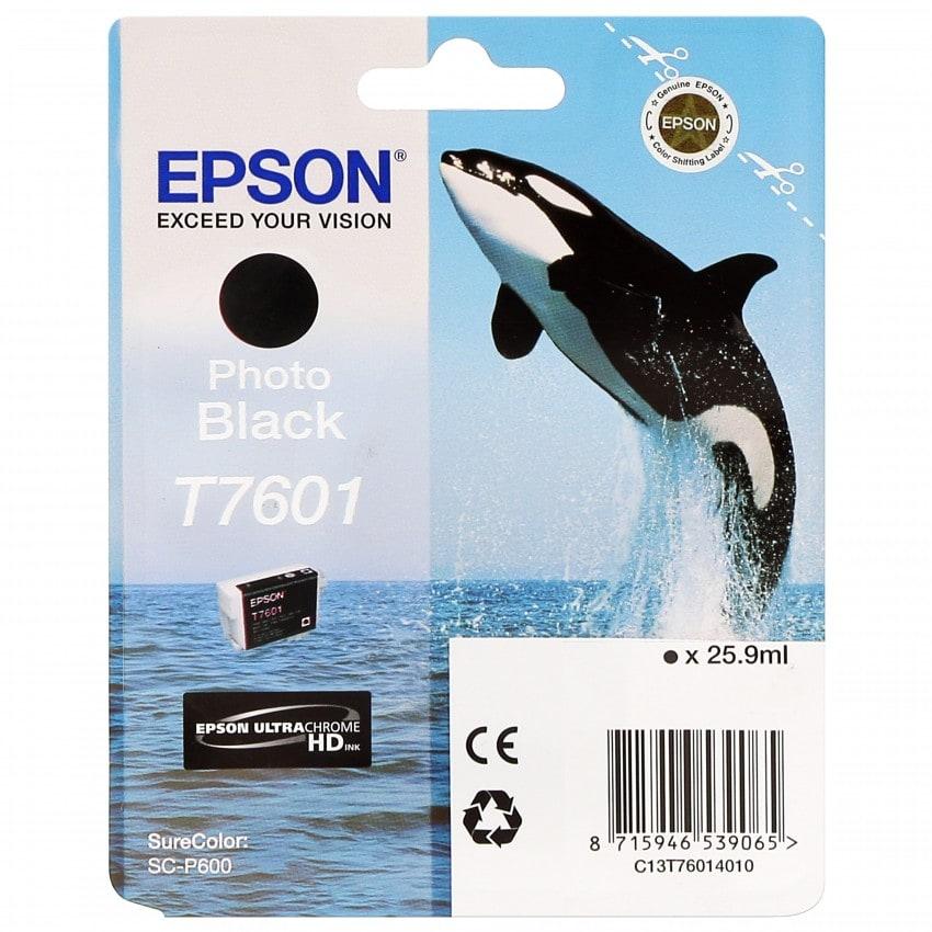 Cartouche d'encre traceur EPSON SC-P600 - Noir Photo - 25,9ml - T7601