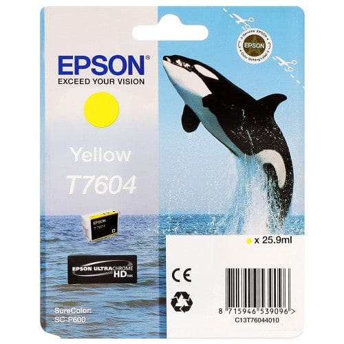 Cartouche d'encre traceur EPSON SC-P600 - Jaune - 25,9ml - T7604