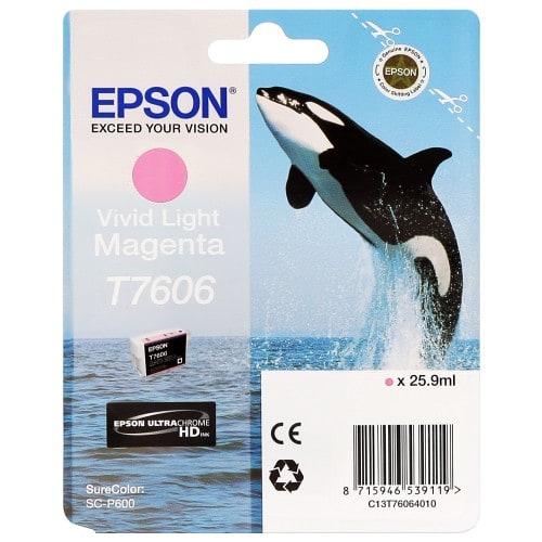Cartouche d'encre traceur EPSON SC-P600 - Vivid magenta clair - 25,9ml - T7606