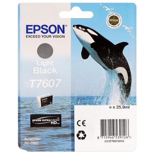 Cartouche d'encre traceur EPSON SC-P600 - Gris - 25,9ml - T7607