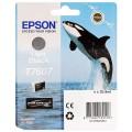 EPSON - Cartouche d'encre traceur SC-P600 - Gris - 25,9ml - T7607