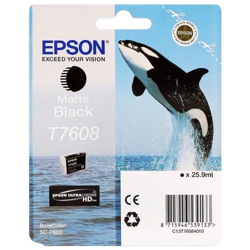 Cartouche d'encre traceur EPSON SC-P600 - Noir Mat - 25,9ml -T7608