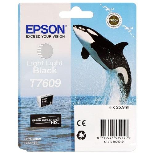 Cartouche d'encre traceur EPSON SC-P600 - Gris clair - 25,9ml - T7609