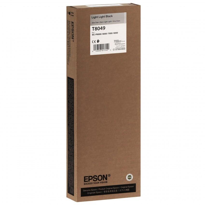 Cartouche d'encre traceur EPSON T8049 Pour imprimante SC-P6000/7000/8000/9000 Light light noir - 700ml