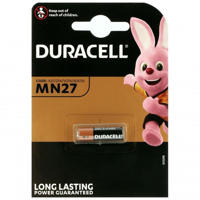Pile alcaline LR27 MN27 27A 12V DURACELL Blister d'1 pile