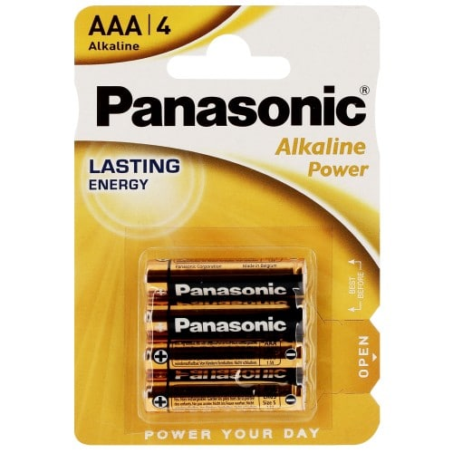 Pile alcaline LR03 AAA AM4 1,5V PANASONIC Bronze Award Blister de 4 piles