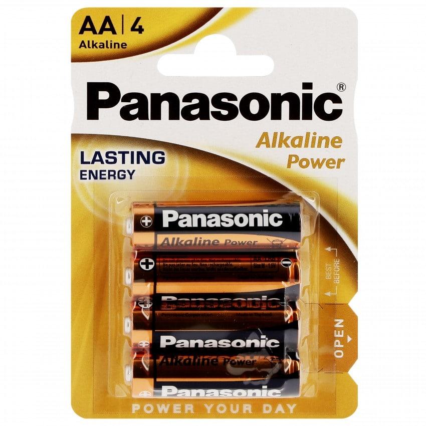 Pile alcaline LR6 AA AM3 1,5V PANASONIC Bronze Award Blister de 4 piles