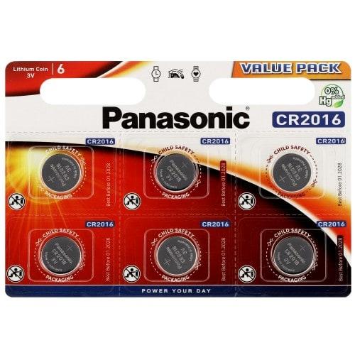 Panasonic pile CR2016 3v blister 1 (par 6)