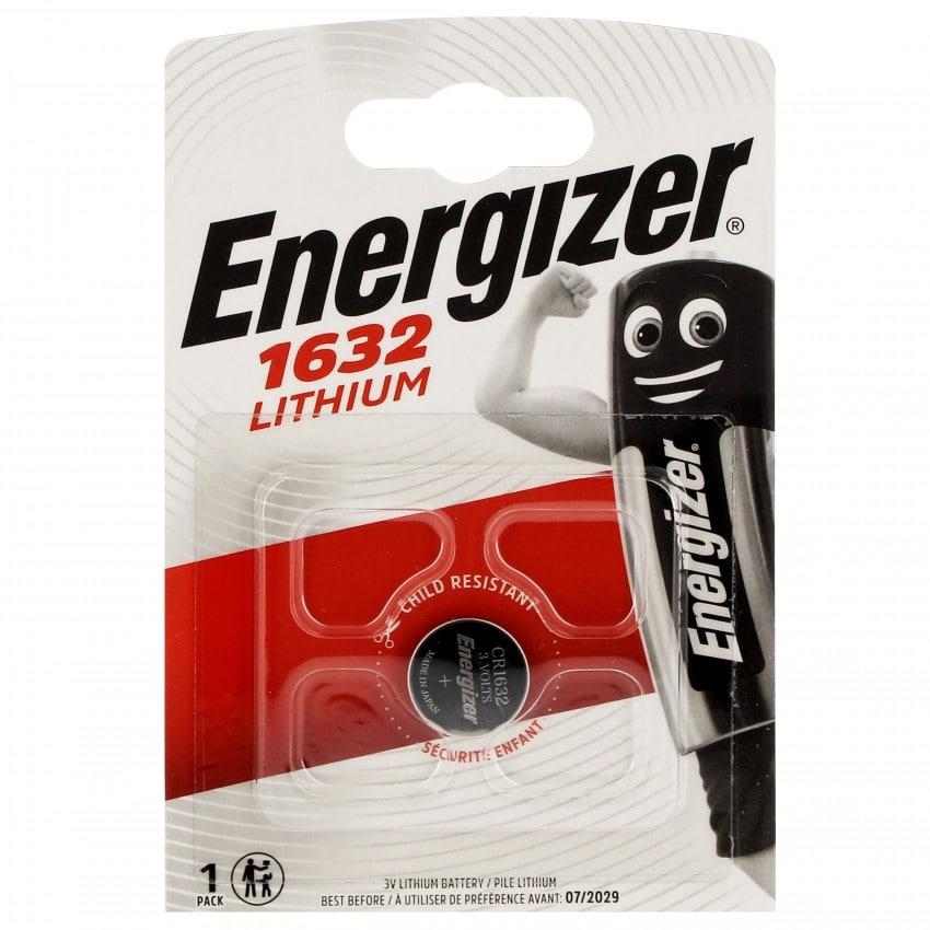 Pile lithium CR1632 3V ENERGIZER Blister d'1 pile