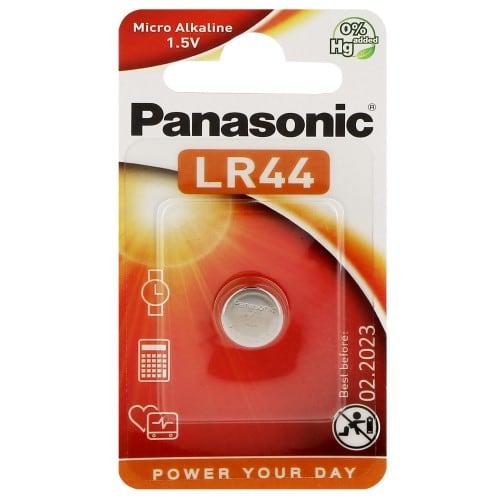 Pile alcaline LR44 A76 1,5V PANASONIC Cell Power Blister d'1 pile
