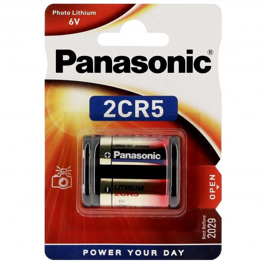 Pile lithium 2CR5 6V PANASONIC Photo Power Blister d'1 pile
