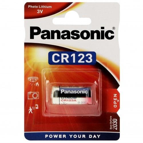 Pile lithium CR123A CR17345 3V PANASONIC Photo Power Blister d'1 pile