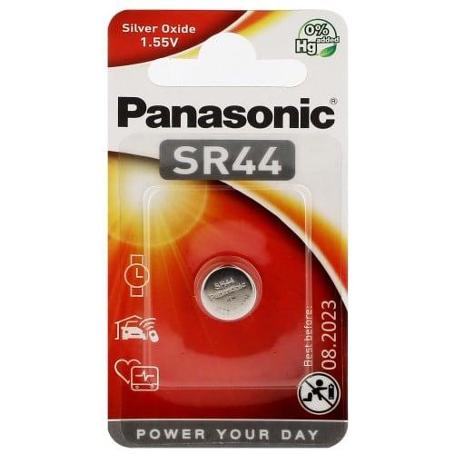 Pile oxyde d'argent SR44 / 357/303 1,5V PANASONIC Cell Power Blister d'1 pile